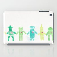 robots iPad Cases featuring Robots by manicpanicplease