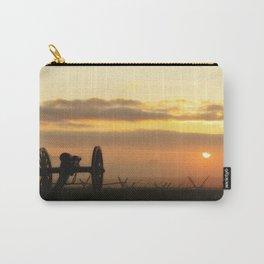 Sunrise on a foggy Battlefield Carry-All Pouch