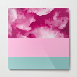 Cotton Candy Skies Metal Print