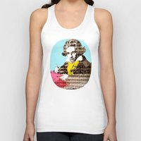 beethoven Tank Tops featuring Ludwig van Beethoven 4 by Marko Köppe