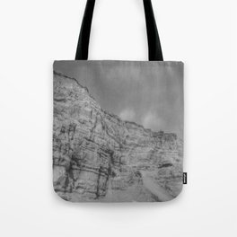 Eroding Graffiti Cliff Tote Bag