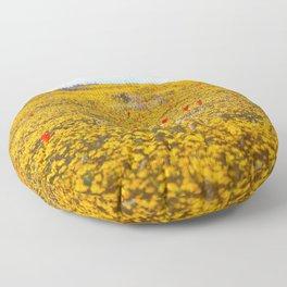 Yellow Ochre Floor Pillow