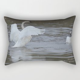 Trumpeter Swans - Alaska Rectangular Pillow