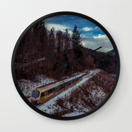 Alpine railway Wall Clock