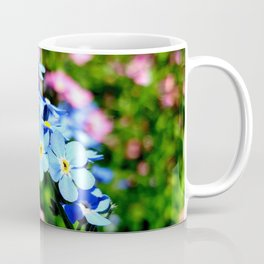 Pink And Blue Forget Me Nots Coffee Mug