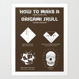 Origami Instruction Art Print