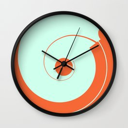 Abstract Shapes-Orange and Light Blue Wall Clock