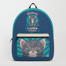 I Love Cats! Backpack