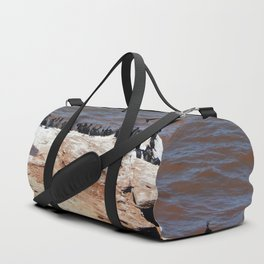 Double Crested Cormorant landing Duffle Bag