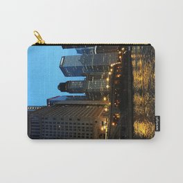 Chicago River and Buildings at Dusk Color Photo Carry-All Pouch