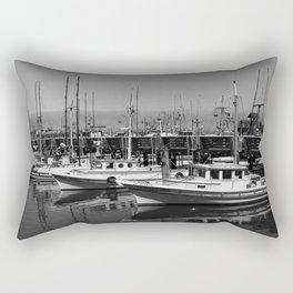 Boats At Fishermans Wharf San Francisco Rectangular Pillow