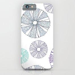 white sea urchin iPhone Case
