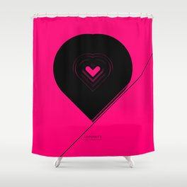 CRYPTIC HIPSTER HEART. Shower Curtain