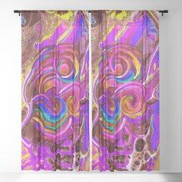 CaribbeanOhm -warm Sheer Curtain