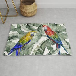 PARROTS IN THE JUNGLE Rug
