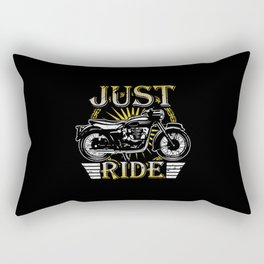 Motorcycling Road Speed Shirt Design Rectangular Pillow