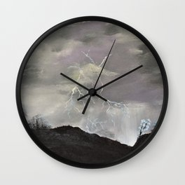 Trouble over the prairies Wall Clock