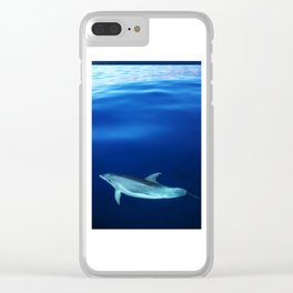Dolphin and blues Clear iPhone Case