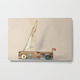 Amphibian Boat #1 Sculpture by Annalisa Ramondino Metal Print