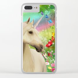Magical Forest Unicorn Clear iPhone Case