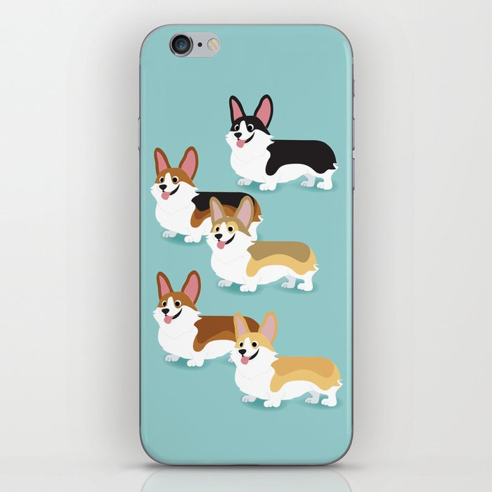 Color me Corgi iPhone Skin