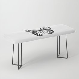 Monarch Butterfly | Vintage Butterfly | Black and White | Bench
