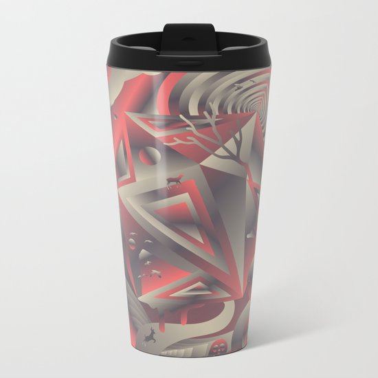 Geometromorphic Consciousness Metal Travel Mug