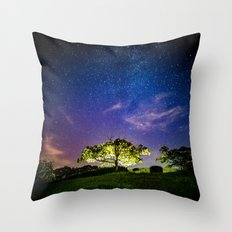 Galaxy Dreams of an Earthling Throw Pillow