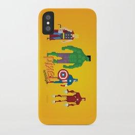 Super Heroes - Pixel Nostalgia iPhone Case