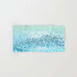 Seafoam Aqua Ocean MERMAID Girls Glitter #2 #shiny #decor #art #society6 Hand & Bath Towel