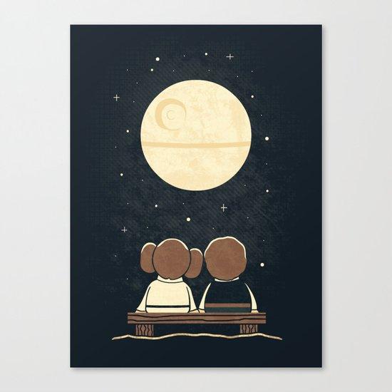 Moon Gazing Canvas Print