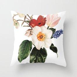 Spring Flowers Bouquet Throw Pillow