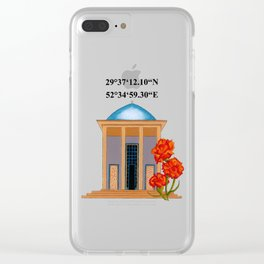 Tomb Of Saadi Clear iPhone Case
