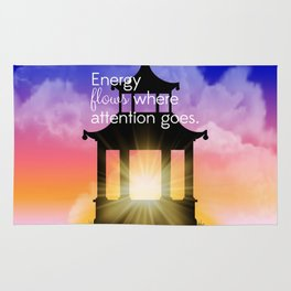 Energy flows where attention goes Rug