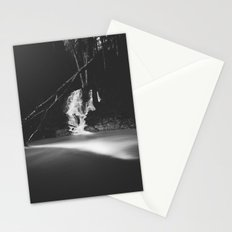 Minimalistic black and white waterfall Stationery Cards