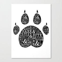 Bark & Bite Canvas Print