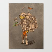 soldier Canvas Prints featuring Soldier by Pedro Hamdan