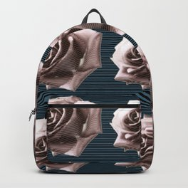 Rosy striped roses Backpack