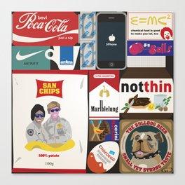 Consumption of goods Canvas Print