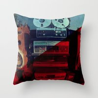 sound Throw Pillows featuring Sound by sysneye