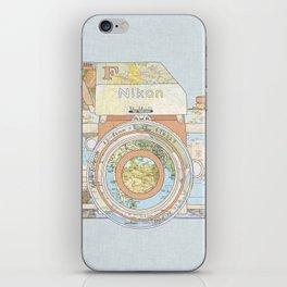 TRAVEL NIK0N iPhone Skin