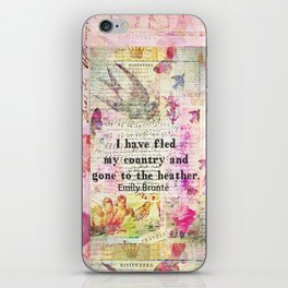 Emily Bronte quote Wuthering Heights iPhone Skin