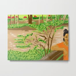Pam at the Lao River Metal Print