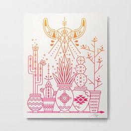 Santa Fe Garden – Pink/Orange Ombré Metal Print