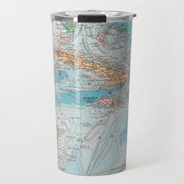 Vintage Map of The Caribbean Sea (1913) Travel Mug