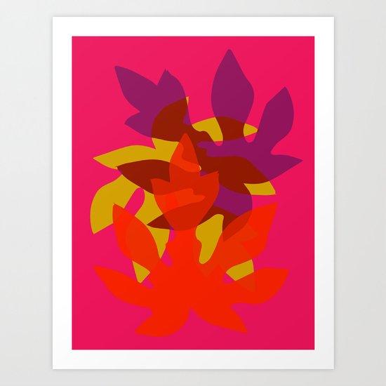 Papaya Leaf Art Print
