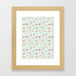 Cheerful Fries Framed Art Print