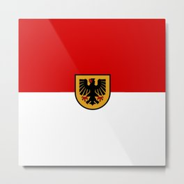 Flag of Dortmund Metal Print