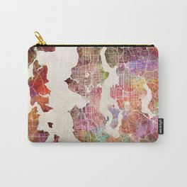 Seattle map Carry-All Pouch