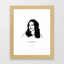 Kate Middleton Framed Art Print